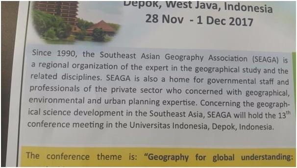13th SEAGA International Conference 2017 (UI-Indonesia)