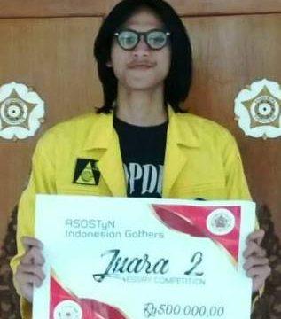 Selamat kepada Anggoro Tri Muldiguno meraih Juara 2 dalam ASOSTyN : ASEAN Student Organization of Science and Technology Network